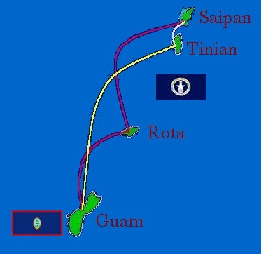 Pacific Island Aviation route map