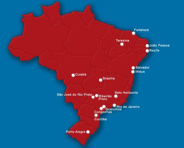 Pantanal Linhas Aereas route map