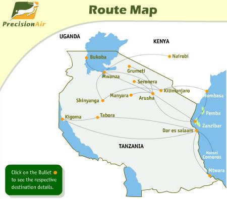 Precision Air route map