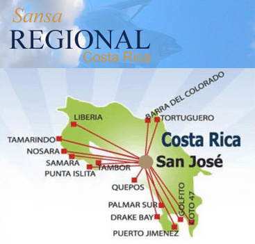 Sansa Airlines route map