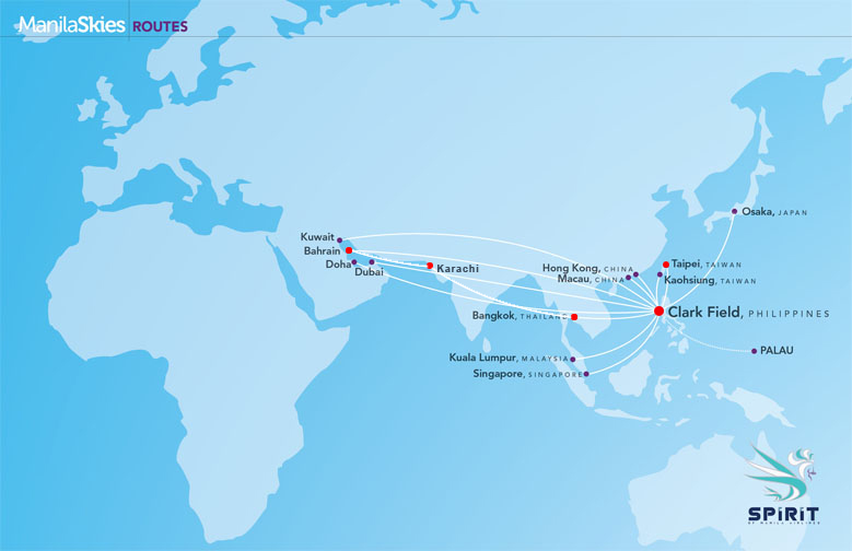 Spirit of Manila Airlines route map
