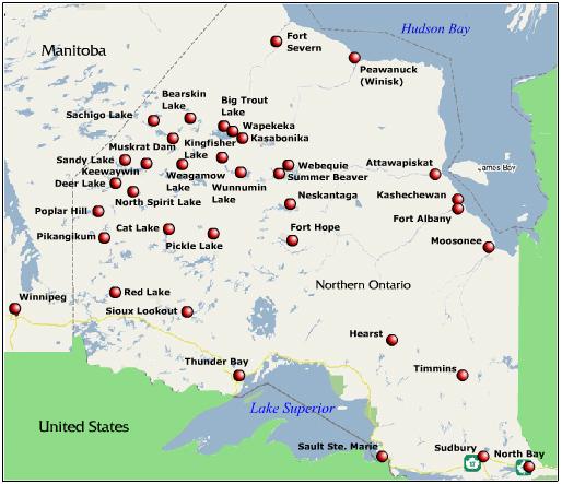 Wasaya Airways route map