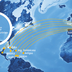 Routes to the Caribbean