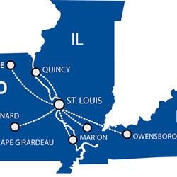 Routes within Midwest