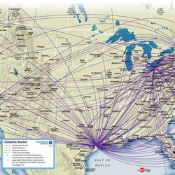 Domestic routes