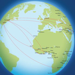 Routes to Africa and the Middle East