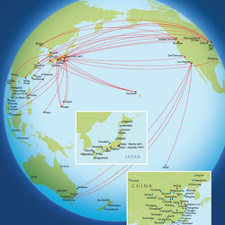 Routes to Asia and Australia