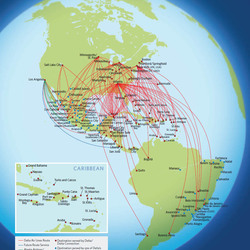 Routes to Latin America