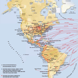 Routes to North and South America