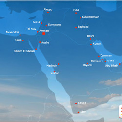 Routes within Middle East