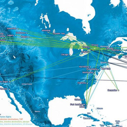 Routes to North America
