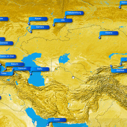 Routes to Central Asia