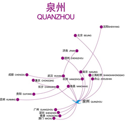Routes from Quanzhou